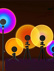 cheap -Rainbow Sunset Projector LED Night Light Sun Projection Desk Lamp For Tiktok Live Broadcast Background Bedroom Bar Coffee Store Wall Decoration USB Set Lighting
