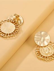 cheap -metal portrait asymmetrical earrings exquisite personality earrings ear clips female