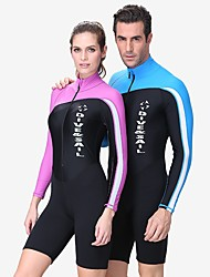 cheap -Dive&Sail Men's Shorty Wetsuit 1.5mm Nylon Spandex Neoprene Diving Suit UV Sun Protection Breathable Anatomic Design Long Sleeve Front Zip - Swimming Diving Watersports Patchwork Spring Summer