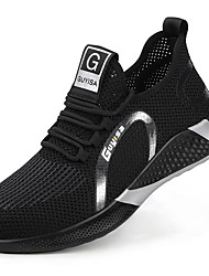 cheap -Unisex Trainers Athletic Shoes Sporty Classic Chinoiserie Office & Career Safety Shoes Tissage Volant Breathable Non-slipping Wear Proof Booties / Ankle Boots Black / Gold Spring Summer