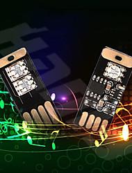 cheap -OTOLAMPARA LED USB Decorative Lamp Car Interior Atmosphere Light Mini Small USB LED RGB Club Disco Magic Stage Effect Music Rhythm Lights