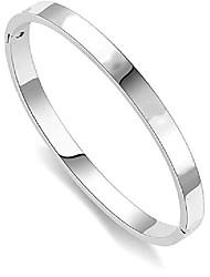 cheap -n / a classic fashion titanium steel bracelet for women cuff bracelets couples bracelets (silver, 7.5)