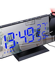 cheap -EN8827 FM Radio Digital Alarm Clock Ceiling Projector Clock Mirror Surface LED Electronic Clocks Temperature and Humidity Detect for Kids Heavy Sleepers DC Powered