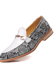 cheap -Men's Loafers & Slip-Ons Snakeskin Shoes Penny Loafers Business Vintage Classic Daily Party & Evening Walking Shoes Patent Leather Synthetics Breathable Non-slipping Wear Proof Booties / Ankle Boots