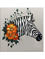 cheap -100% Hand painted Abstract Zebra Canvas Art Paintings On The Wall Colorful Animals Art African Animals Art Pictures For Living Room Wall Art