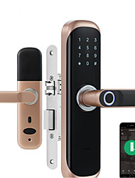 cheap -raykube tuya fingerprint door lock smart card / digital code / keyless electronic home office security mortise lockey x3