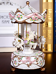 cheap -Music Box Carousel Music Box Engraved Unique Women's Girls' Kid's Adults Graduation Gifts Toy Gift