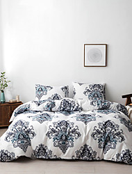 cheap -Duvet cover set with zipper with botanical  floral printed, soft  natural breathable durable and hypoallergenic
