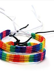 cheap -Friendship Bracelet Braided Rainbow Stylish Alloy Bracelet Jewelry White / Rainbow For Anniversary Date Birthday Festival