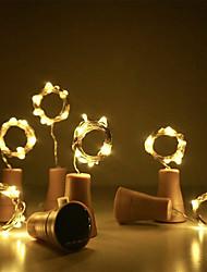 cheap -Solar String Lights Outdoor Solar Wedding Decoration 2m x 20LED Wine Bottle Garland Solar Cork Fairy Lights Outdoor Waterproof Christmas Light Copper Garland Patio Garden String Lights 10pcs 6pcs 2pcs