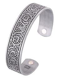 cheap -fishhook norse viking tree of life raven crow health magnet bangle irish knotwork cuff bracelet for women men