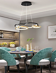 cheap -3-Light 52 cm Dimmable Circle Design Pendant Light Aluminum Acrylic Layered Heart Modern Style Painted Finishes Modern Nordic Style 110-240 V