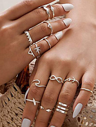cheap -Ring Classic Silver Alloy Heart Crown Infinity Fashion Vintage Classic 1 set 6 / Women's