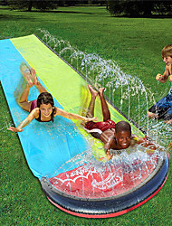 cheap -Water Slip and Slide for Kids Adults, Garden Backyard Giant Racing Lanes and Splash Pool, Outdoor Blow up Water Slides with Crash Pad Outdoor Water Toys 189inchx55inch (189inchx55inch, Blue Yellow)