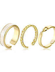 cheap -fashion ring three-piece suit opening adjustable female ring jewelry