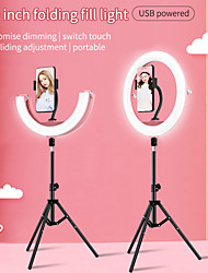 """cheap -10"""" LED Ring Light Dimmable LED with Tripod Stand With Phone Holder 3 Color Lighting Modes for Photography Tiktok Youtube Video Makeup Live Streaming"""