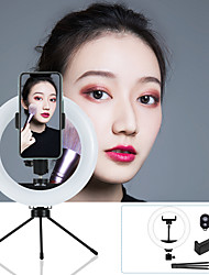 cheap -7.87inch LED Ring Light Dimmable LED with Tripod Stand With Phone Holder 3 Color Lighting Modes for Photography Tiktok Youtube Video Makeup Live Streaming
