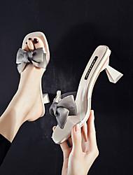 cheap -Women's Heels Pumps PVC Solid Colored Almond Black