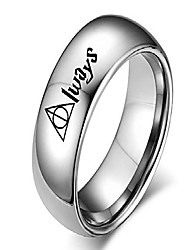 cheap -horcruxes jewelry always couple rings 8mm 4mm silver dome ring band for men women