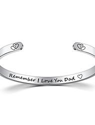 cheap -titanium steel c-shaped family bracelet remember love you mom.