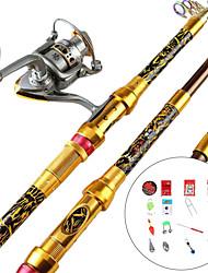 cheap -Fishing Rod and Reel Combo Telescopic Rod 100/120/150/170/190/210/230 cm Portable Lightweight Sea Fishing