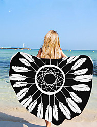 cheap -Microfiber Round Beach Towel Blanket,RETRO Art printing and High Colour Fastness Super Water Absorbent Large Beach Towel