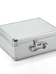 cheap -Aluminum Hard Case Briefcase Silver Toolbox Professional Carrying Case Aluminum Flight Cases Portable Equipment Tool Case