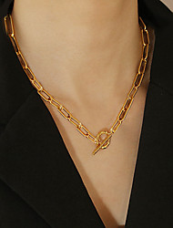 cheap -fashion simple  clavicle necklace retro street alloy necklace