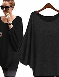 cheap -ladies 100% merino wool winter sweater loose sweaters v neck cashmere sweater ladies long sleeve slim warm knit sweater elegant tops (black)