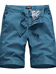cheap -Men's Hiking Cargo Shorts Solid Color Summer Outdoor Regular Fit Ripstop Multi Pockets Breathable Soft Cotton Zipper Pocket Shorts Army Green Blue Khaki Black Hunting Fishing Climbing 29 30 31 32 34