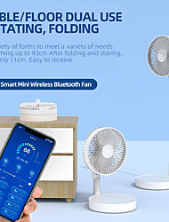 cheap -smart app remote control folding telescopic mini portable fan usb rechargeable desktop floor air cooler dormitory bed office fan