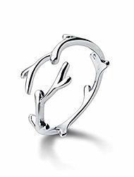 cheap -newzenro irregular branches minimalist s925 sterling silver open ring for women girls finger adjustable dainty white gold hypoallergenic jewelry gifts for bff mom daughter sister birthday christmas