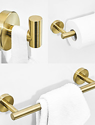 cheap -Bathroom Accessory Sets Stainless Steel Contain with Tower Bar,Robe Hook and Toliet Papaer Holder Brushed