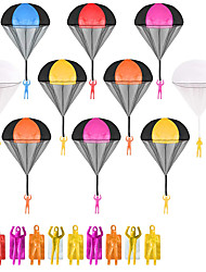 cheap -10 pcs Parachute Toys for Kids Tangle Free Throwing Parachute Man Without Battery Nor Assembly Outdoor Flying Toys for Kids Gift in All Ages