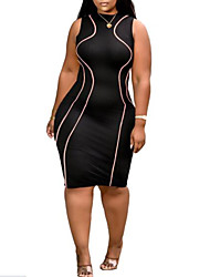 cheap -mk034 amazon independent station european and american plus size women's sexy bag hips fashion round neck vest dress