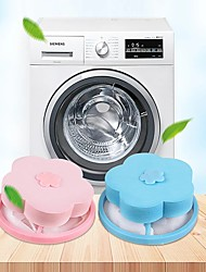 cheap -4pcs Mesh Washing Filter Cleaner Wool Dryer Bag Washing Machine Filter Net Bag Mesh Filter Hair Removal Cleaning Ball Net