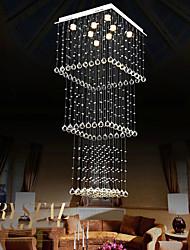 cheap -Crystal Chandelier Modern Spectacular LED Spiral Sphere Rain Drop K9 Ceiling Light Fixture for Living Room Hotel Hallway Foyer EntryWay Romantic Large Chandelier Pendant Lights