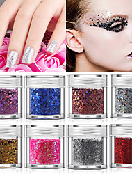 cheap -Nail Art Glitter Sequin Mixed Nail Art Jewelry Patch Gradient Colorful Sequin 10g Bottled Nail Decoration