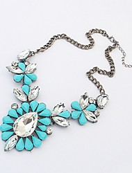 cheap -Women's Necklace Boho Acrylic Imitation Diamond Alloy Blue Rose Red 45+6 cm Necklace Jewelry 1pc For Festival