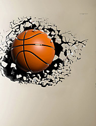 cheap -3D Broken Wall Basketball Home Hallway Background Decoration Can Be Removed Stickers