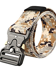 cheap -Belt Men's Military Tactical Belt Work Belt Wearable Quick Release Heavy Duty for Camo Oxford cloth Fall Spring Summer