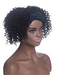 cheap -amazon new product headscarf wig european and american wig black ladies small volume high temperature silk chemical fiber headgear