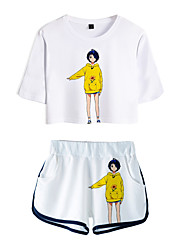 cheap -Inspired by wonder egg priority Cosplay Cosplay Costume Outfits Terylene 3D 2 Piece Printing Shorts For Women's / Men's