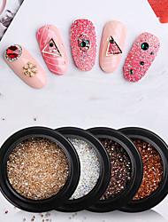 cheap -9 Pcs/set Nail Art Crystal Sand Micro Diamond Flash Nail Sticker Diamond Pointed Bottom Micro Zirconium Nail Decoration