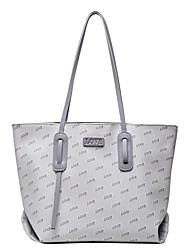 cheap -Women's Bags PU Leather Tote Top Handle Bag Date Office & Career 2021 Handbags Gray