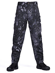 cheap -Men's Tactical Pants Hiking Pants Trousers Softshell Pants Thermal Warm Waterproof Windproof Ventilation Autumn / Fall Winter Spring Camo / Camouflage Bottoms for Camping / Hiking Hunting Fishing