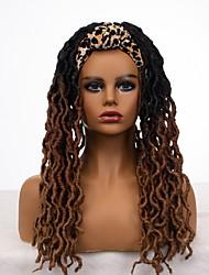 cheap -new foreign trade headband, european and american cross-border fashion twisted long curly hair, chemical fiber headgear