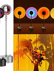 cheap -RK64 Sunset Lamp Tiktok Sunset Night Light Projector Led Table Lamp180 Degree Rotation Rainbow Projection Lamp Romantic Led Light Background Wall Decoration Light For Tiktok Youtube Ins 32.5cm
