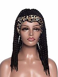 cheap -braided wig headband wigs for black women,black box braid wig with headband attached braid headband wig wrap wigs braided wigs for black women head wrap wig