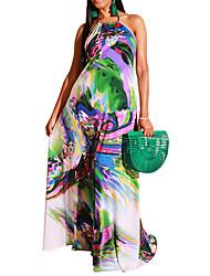 cheap -Women's Plus Size Dress Swing Dress Maxi long Dress Graphic Backless Summer S M L XL XXL